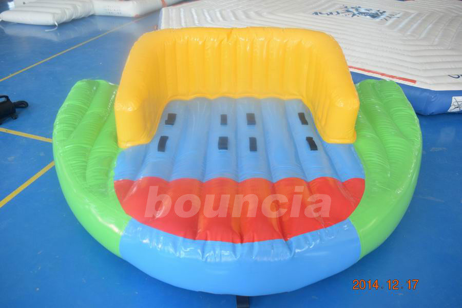 0.9mm PVC Tarpaulin Inflatable Towable Boat For Lake