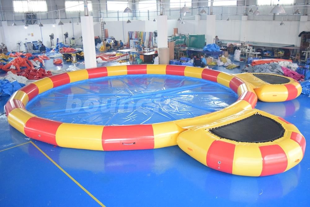 Round Large Inflatable Water Pool With Platform For Water Walking Ball